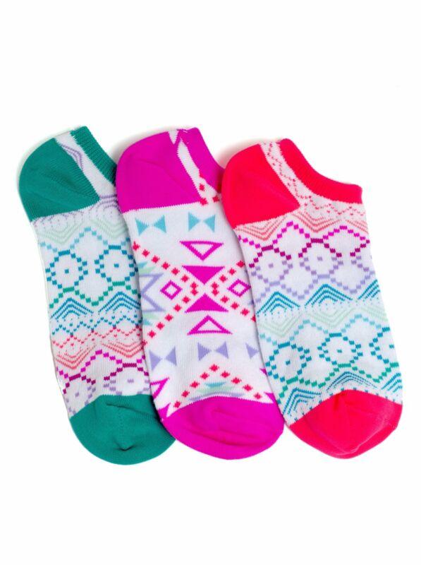 LittleMissMatched Tribal Liner Socks - 3 Socks (Kids 6-2)