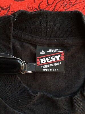 Vtg Fruit Of The Loom Best Plain Black T-Shirt L Blank 50/50 Made In