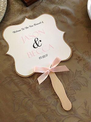 Pink Rose And Kraft Wedding Program Fan](Wedding Program Fans)