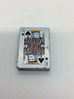 VINTAGE KING OF SPADES CIGARETTE LIGHTER. WORKING.