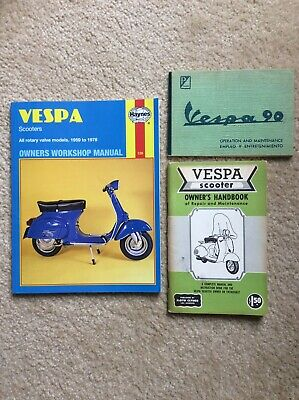 Piaggio Vespa 90 Small Frame Scooter V91AT Owners Manual Original 1964/65