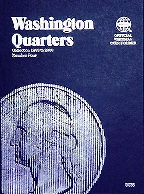 Whitman Washington Quarters Coin Folder Album 9038 1988-2000 Book #4