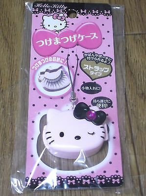 DAISO JAPAN Hello Kitty False Eyelashes CASE PORTABLE Strap Type Sanrio F/S New