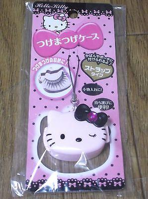 DAISO JAPAN Hello Kitty False Eyelashes CASE PORTABLE Strap Type Sanrio F/S New