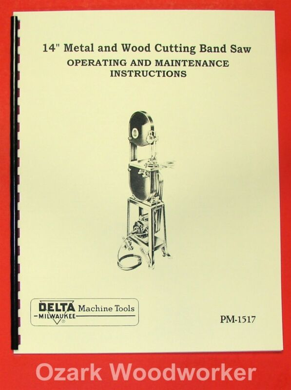 "DELTA-Milwaukee 14"" Wood & Metal Band Saw Operator"