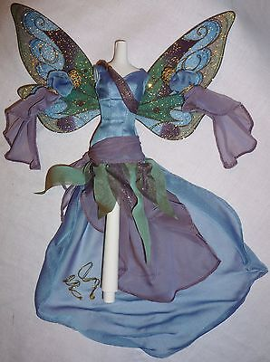 OUTFIT ~ BARBIE DOLL FAIRY OF THE FOREST WINGED WHIMSICAL DRESS GOWN ENSEMBLE