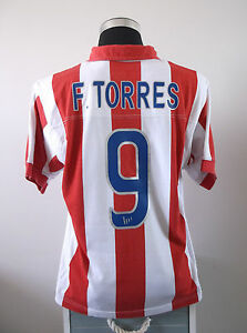F. TORRES #9 Atletico Madrid Centenary Home Football Shirt Jersey 2003/04 (M)