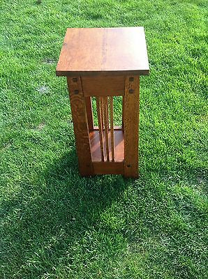 Quarter Sawn White Oak Table Mission Table Or Stand  24  Tall