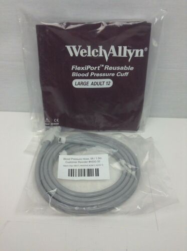 Welch Allyn 405192 FlexiPort Reusable Adult & L Adult Cuff with 5 ft. Cable