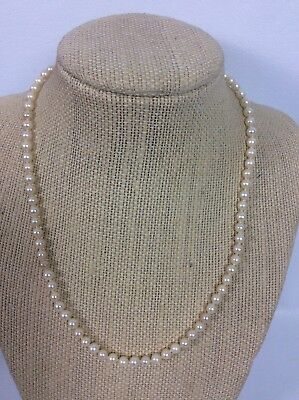 Beautiful Vtg Mikimoto Sterling Silver 925 Pearl Necklace 17 1/2 ""