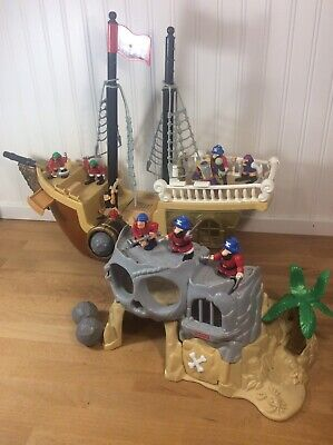 1994 Fisher Price Great Adventures Pirate Ship - Island, Cannon Balls Pirates