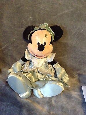 Minnie Mouse Princess Plush Toy Blue *USUAL WEAR AND TEAR*