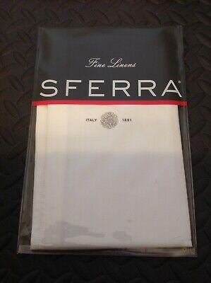 Sferra Larino Boudoir Pillow Sham Ivory Egyptian Cotton Oxford 12
