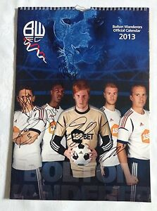 Bolton-Wanderers-Signed-2013-Calendar-6-Autographs-Adam-Bogdam-Keith-Andrews