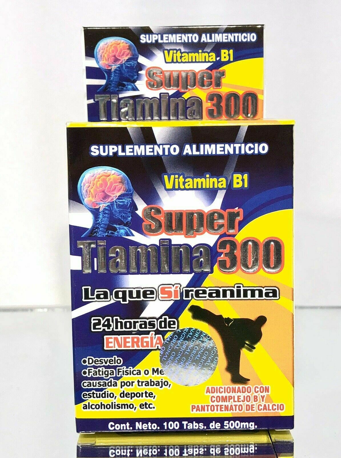 Super Tiamina 300 *Vitamina B1-Complejo B para Desvelo-Fatiga-Alcoholismo
