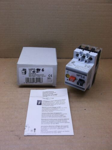 MPS-6 Klockner Moeller Eaton NEW 4.0-6.0A Manual Motor Starter MPS6