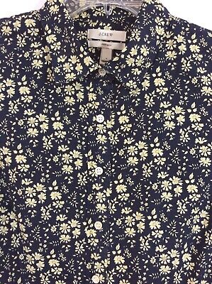$150 J.CREW Size 2 Liberty Perfect Shirt In Navy Capel Floral Print Style 01312