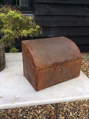 Victorian Edwardian Lizard Skin Stationary Box Letter Box Like Shagreen Leather