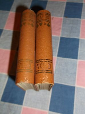 Vintage Double Card Holder  Looks Like Two Volume Books  About 3 3/4 Inch High