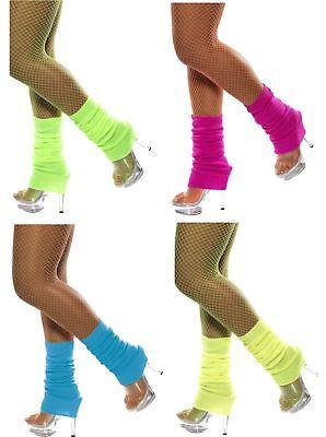 Womens Neon Bright Leg Warmers Flashdance Fame Danceware Leggins by Smiffy's - Flashdance Costumes