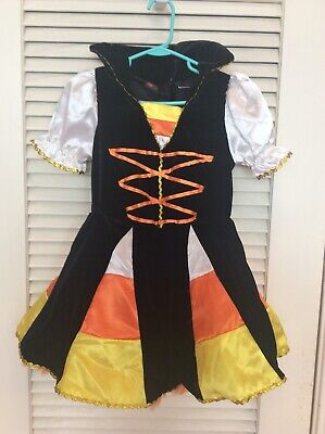 Candy Corn Tutu Costume (Candy Corn Witch Tutu Crinoline Dress Halloween Costume Girls 6x Velvet /)