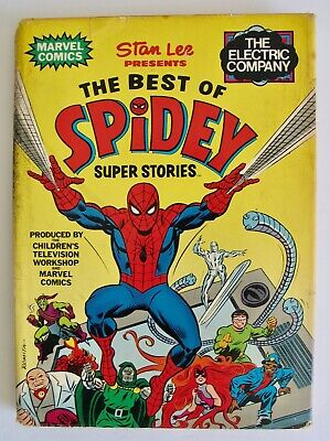 Vintage 1978 The Best Of Spidey Super Stories Book Spider-Man Comic 1st