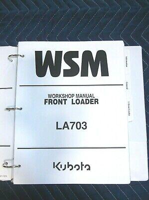 Kubota La703 Front Loader Workshop Service Manual