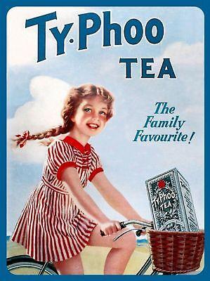 Typhoo Tea Framed Canvas Art Print Poster Vintage Kitchen Retro Cafe Diner