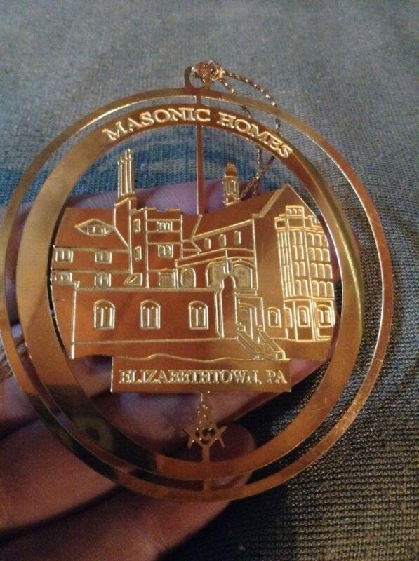 Masonic Homes Elizabethtown Pa Brass Christmas Ornament