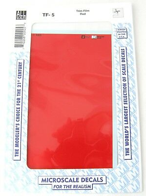 "All Scale Trim Film - Red - Microscale #TF-5 (Size: approx. 4 1/2"" x 7 1/2"")"