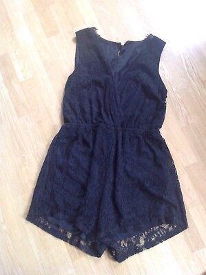 Damen Kleid ( Hosenkleid) mit Spitze Schwarz Größe 36/38 Schwarzes Kleid Hose