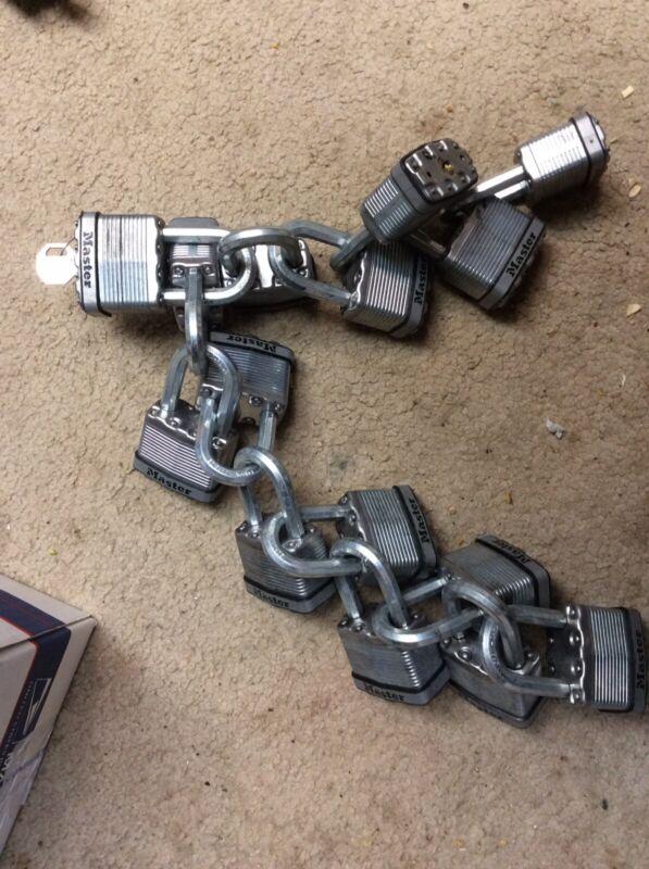 Master Lock Magnum M5 Boron Carbide Steel Shackle Padlocks keyed alike 15 pc