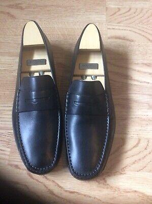 J.M.Weston Shoes Black Mocassin Size 11.5 D
