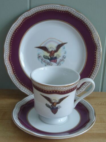 Woodmere White House Collection Abraham Lincoln Teacup & Saucer & Dessert Plate