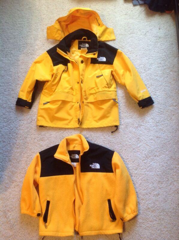 Northface Kids Medium 2 Part Winter Jacket Yellow Guc