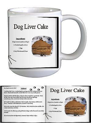 Dog Liver Cake Baking Cooking Recipe Ceramic Mug Novelty by paws2print