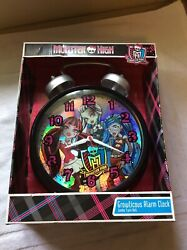 New 2013 12 Monster High Growlicious Alarm Clock Jumbo Twin Bell Quartz RARE