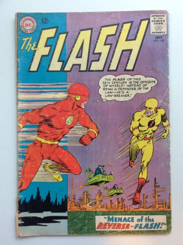Flash #139 (DC 1963) 1st App. of the Reverse-Flash (Professor Zoom)! FREE S/H