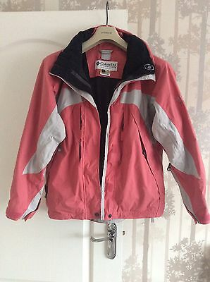 Authentic Colombia Ladies Hiking Tracking Jacket Coral Pink UK M Immaculate! - Authentic Pink Ladies Jacket