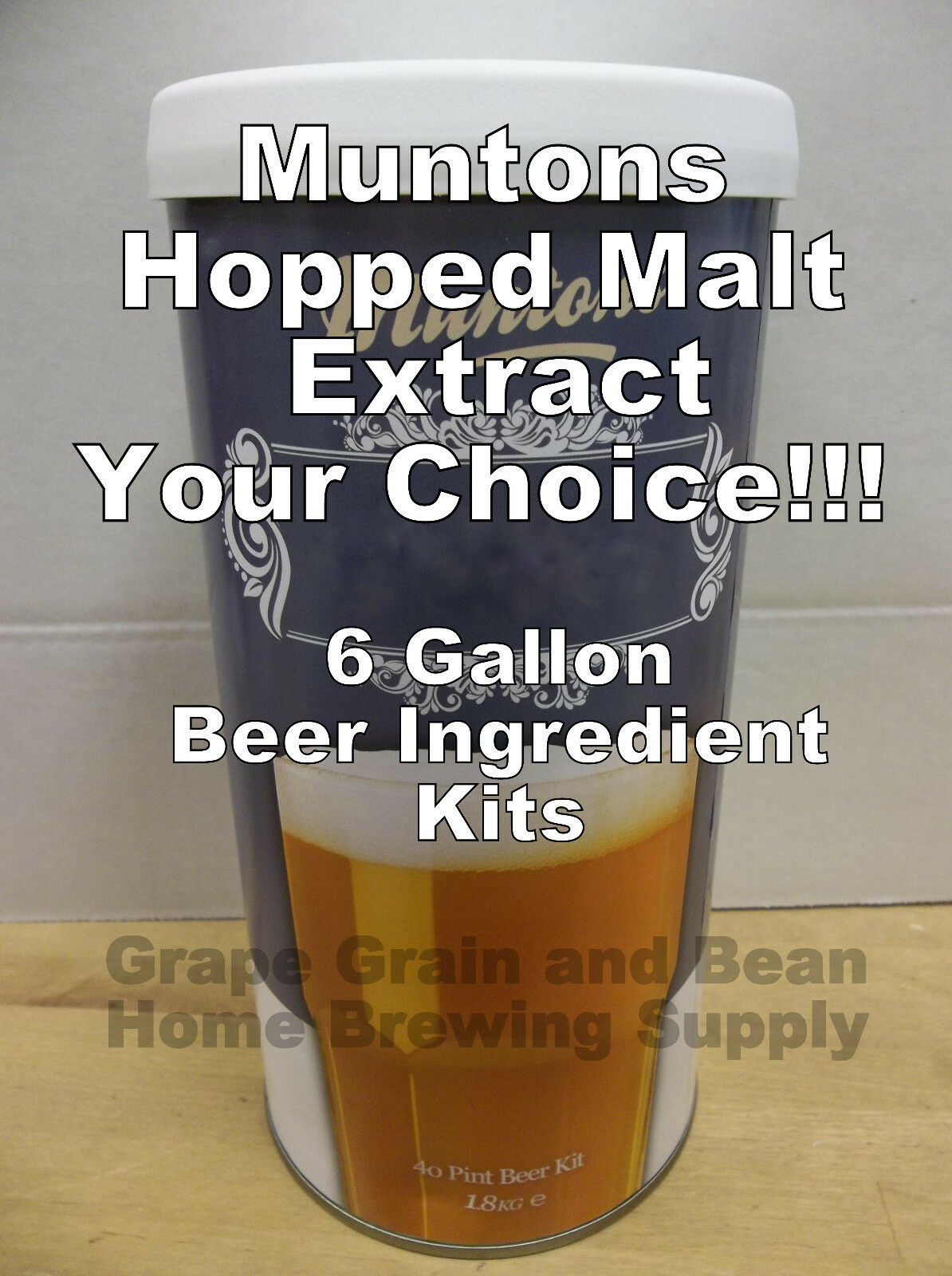 $26.75 - Muntons Beer Ingredient Kits, Hopped Beer Kits, 6 Gallon Beer Making Ingredients