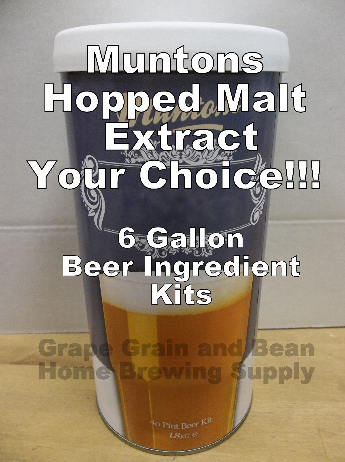$26.25 - Muntons Beer Ingredient Kits, Hopped Beer Kits, 6 Gallon Beer Making Ingredients