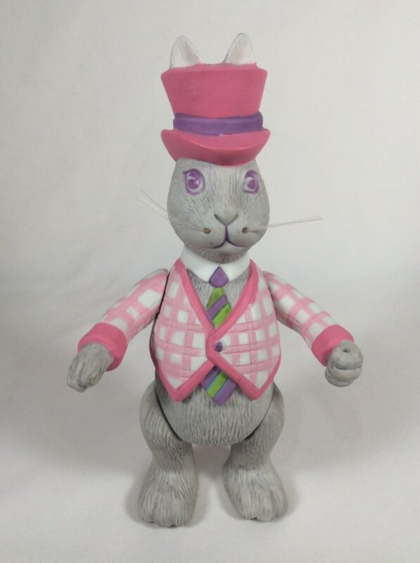 Vintage Dept 56 WALTER Ceramic Figurine Jointed Easter Bunny Rabbit Used 1984