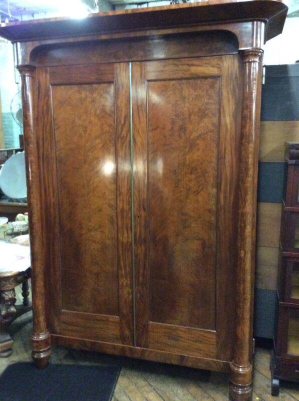 """Period Empire Two-Door Blind Door Cabinet, 88.5"""" Tall"""