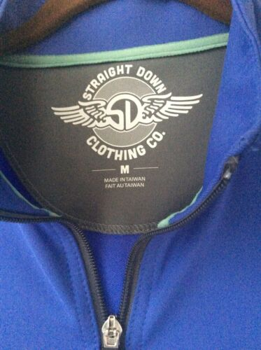 Straight Down Overbrook Golf Club 1/4 Zip Vest Medium EUC - $27.00
