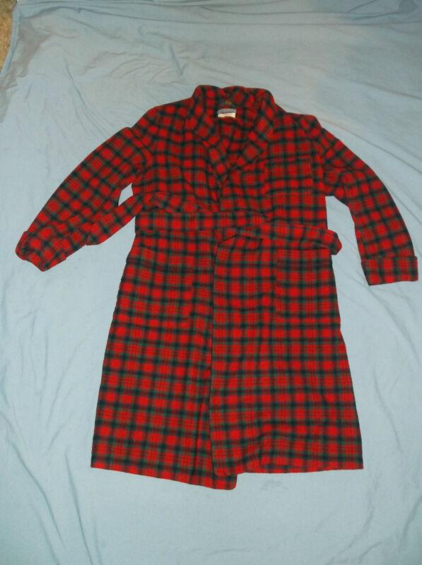 VTG PENDLETON Men's Robe Tartan Med Wool Bath ASIS