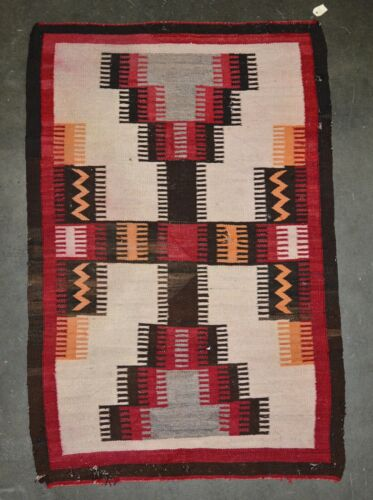 "Navajo rug;  Modified Storm Pattern - c. 1930 60"" x 40"""