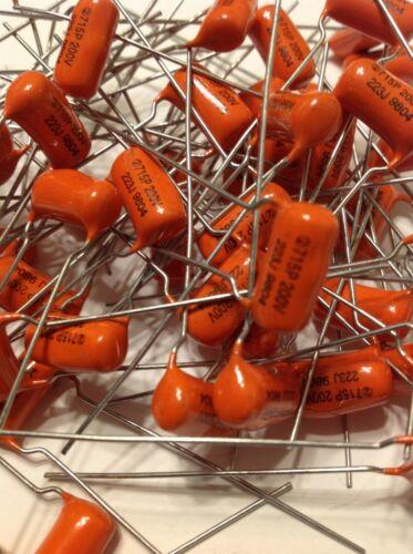 NOS Sprague Orange Drop 715P Film Foil .022uf  200V Guitar Tone Capacitor 1 Each