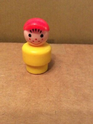 Vintage Fisher Price Little People Plastic Boy
