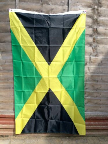 JAMAICAN FLAG Banner/Flag ,Cloth Textile...EXTRA LARGE....90/150