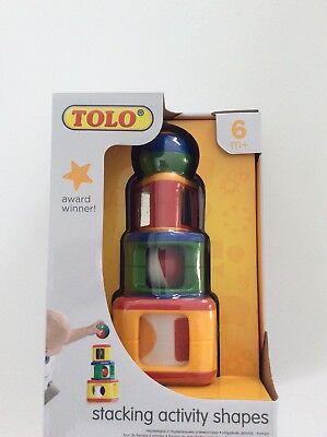 TOLO Award Winning Stacking Activity Shapes NIB 6 (Tolo Activity)